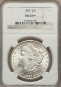 Morgan Dollars: , 1889 $1 MS64+ NGC. NGC Census: (14826/2231). PCGS Population (10292/2043). Mintage: 21,726,812. Numismedia Wsl. Price for p...