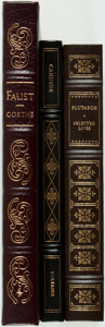Books:Literature Pre-1900, Group of Three Classic Literary and Philosophical Works.Franklin/Easton: [1979-1982]. Includes Faust; Candide [and:]Pl... (Total: 3 Items)