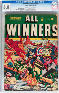 All Winners Comics #10 (Timely, 1943) CGC FN 6.0 Cream to off-white pages