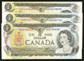 Canadian Currency: , $1 1973 Notes.. ... (Total: 3 notes)