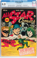 Golden Age (1938-1955):Superhero, All Star Comics #6 (DC, 1941) CGC VG 4.0 Off-white to white pages....