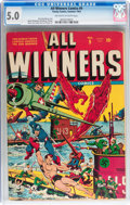 Golden Age (1938-1955):Superhero, All Winners Comics #9 (Timely, 1943) CGC VG/FN 5.0 Off-white to white pages....