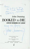 Books:Mystery & Detective Fiction, John Dunning. INSCRIBED. Booked to Die. New York:Scribner's, [1992]. Uncorrected advance proof inscribed by theaut...