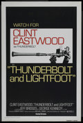 """Movie Posters:Crime, Thunderbolt and Lightfoot (United Artists, 1974). One Sheet (27"""" X 41"""") Advance. Crime. ..."""