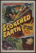 "Movie Posters:Documentary, Scorched Earth (Lamont Pictures, 1942). One Sheet (27"" X 41""). Documentary. ..."