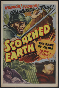 "Scorched Earth (Lamont Pictures, 1942). One Sheet (27"" X 41""). Documentary"