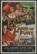 "Movie Posters:Adventure, Land of Fury (Universal, 1955). One Sheet (27"" X 41""). Adventure...."