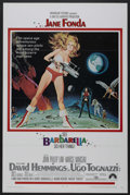 "Movie Posters:Science Fiction, Barbarella (Paramount, 1968). One Sheet (27"" X 41"") Tri-Folded.Science Fiction. ..."
