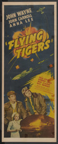 "Movie Posters:War, Flying Tigers (Republic, 1942). Insert (11.75"" X 34""). War. ..."