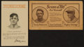 Baseball Collectibles:Others, Early 1900's Christy Mathewson Advertising Pieces Lot of 2....