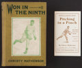 """Baseball Collectibles:Publications, 1916 Christy Mathewson """"Won in the Ninth"""" Hardcover Book and""""Pitching in a Pinch"""" Pamphlet...."""