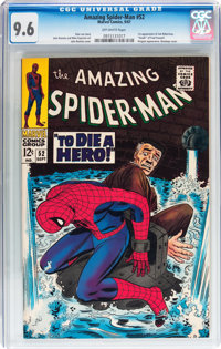 The Amazing Spider-Man #52 (Marvel, 1967) CGC NM+ 9.6 Off-white pages