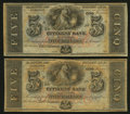 Obsoletes By State:Louisiana, New Orleans, LA - Citizens' Bank of Louisiana $5 18__, Two Remainders. ... (Total: 2 notes)