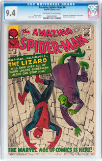 The Amazing Spider-Man #6 (Marvel, 1963) CGC NM 9.4 Off-white to white pages