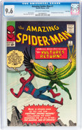 Silver Age (1956-1969):Superhero, The Amazing Spider-Man #7 Twin Cities pedigree (Marvel, 1963) CGCNM+ 9.6 Off-white to white pages....