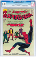 Silver Age (1956-1969):Superhero, The Amazing Spider-Man #10 Twin Cities pedigree (Marvel, 1964) CGCNM/MT 9.8 Off-white to white pages....