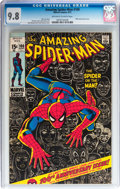 Bronze Age (1970-1979):Superhero, The Amazing Spider-Man #100 (Marvel, 1971) CGC NM/MT 9.8 Off-white to white pages....