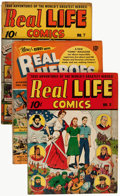 Golden Age (1938-1955):Non-Fiction, Real Heroes/Real Life Comics Group (Various Publishers, 1940s-50s)Condition: Average GD+.... (Total: 8 Items)