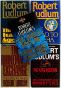 Books:Mystery & Detective Fiction, Robert Ludlum. SIGNED. Group of Five First Editions. Variouspublishers and dates. Two are signed by the author. Origina...(Total: 5 Items)