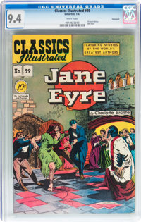 Classics Illustrated #39 Jane Eyre - Original Edition - Vancouver pedigree (Gilberton, 1947) CGC NM 9.4 White pages