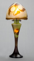 Art Glass:Galle, A GALLÉ OVERLAY GLASS LAMP, Nancy, France, circa 1900. Marks:Gallé. 17-1/2 inches high (44.5 cm). ...