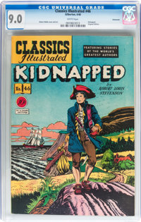 Classics Illustrated #46 Kidnapped - Original Edition - Vancouver pedigree (Gilberton, 1948) CGC VF/NM 9.0 White pages...