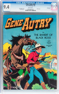 Golden Age (1938-1955):Western, Four Color #93 Gene Autry - Vancouver pedigree (Dell, 1946) CGC NM 9.4 White pages....
