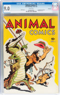 Golden Age (1938-1955):Funny Animal, Animal Comics #1 Vancouver pedigree (Dell, 1942) CGC VF/NM 9.0 White pages....