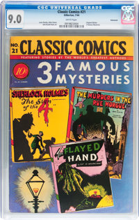 Classic Comics #21 (1A) 3 Famous Mysteries - Original Edition - Vancouver pedigree (Gilberton, 1944) CGC VF/NM 9.0 White...