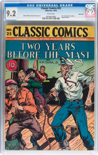 Classic Comics #25 Two Years Before the Mast - Original Edition - Vancouver pedigree (Gilberton, 1945) CGC NM- 9.2 White...