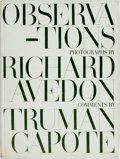 Books:Photography, Richard Avedon. Observations. With comments by Truman Capote. New York: Simon and Schuster, [1959]. Folio. Publisher...