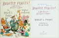 Books:Children's Books, Robert L. Forbes. INSCRIBED. Beastly Feasts! A MischievousMenagerie in Rhyme. Drawings by Ronald Searle. New York: ...