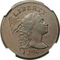Large Cents, 1796 1C Liberty Cap, S-81, B-2, R.3, MS64 Brown NGC. Our EAC Grade AU55....