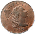 Large Cents, 1796 1C Liberty Cap, S-84, B-5, R.3, MS64 Brown PCGS. Our EAC Grade AU55....