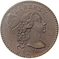 Large Cents, 1794 1C Head of 1794, S-24, B-8, R.1, MS64 Brown NGC. CAC. Our EAC Grade AU58....