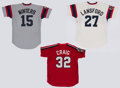 Baseball Collectibles:Uniforms, Circa 1980's Buffalo Bisons Game Worn Jerseys Lot of 3....