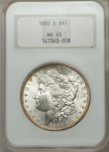Morgan Dollars: , 1882-S $1 MS65 NGC. NGC Census: (18180/8044). PCGS Population (17052/5327). Mintage: 9,250,000. Numismedia Wsl. Price for p...