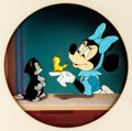 Animation Art:Production Cel, Figaro and Frankie Minnie Mouse, Figaro, and FrankieProduction Cel Courvoisier Setup (Walt Disney, 1947)....