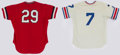 Baseball Collectibles:Uniforms, 1980's Vancouver Canadians Game Worn Jerseys Lot of 2....