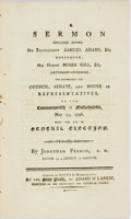 Books:Religion & Theology, Jonathan French. A SERMON PREACHED BEFORE HIS EXCELLENCY SAMUEL ADAMS, ESQ...Boston: 1796. First edition. 23...