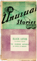 Books:Science Fiction & Fantasy, [Pulps] [Robert Bloch]. Unusual Stories, Vol. I, No. 2. Winter 1935. Fantasy Publications, [1935]. Featuring the...