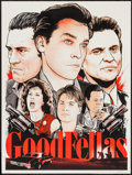 "Movie Posters:Crime, Goodfellas (Spoke Art, R-2013). Autographed Limited Edition ScreenPrint Poster (18"" X 24""). Crime.. ..."