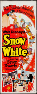 "Movie Posters:Animation, Snow White and the Seven Dwarfs (Buena Vista, R-1958). Insert (14""X 36""). Animation.. ..."