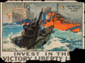 "Movie Posters:War, World War I Propaganda (U.S. Government Printing Office, 1918).Victory Liberty Loan Poster (29"" X 39"") ""They Kept the Sea L..."