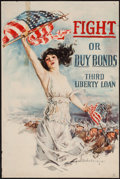"""Movie Posters:War, World War I Propaganda Poster by Howard Chandler Christy (Forbes,1918). Third Liberty Loan Poster (20"""" X 30"""") """"Fight or Buy..."""