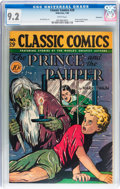 Golden Age (1938-1955):Classics Illustrated, Classic Comics #29 The Prince and the Pauper - Original Edition - Vancouver pedigree (Gilberton, 1946) CGC NM- 9.2 White pages...