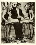 """Autographs:Celebrities, Glenn Ford (1916-2006), American actor. Photograph Signed. Blackand white. Measures 8"""" x 10"""". Fine. . ..."""