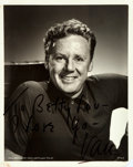 "Autographs:Celebrities, Van Johnson (1916-2008), American actor. Photograph Signed. Blackand white. Measures 8"" x 10"". Some scabbing to edges. Open..."