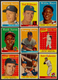 Baseball Cards:Lots, 1958 Topps Baseball Stars & Hall of Famers Collection (9). ...