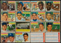 Baseball Cards:Lots, 1956 Topps Baseball Hall of Famers and Checklists Collection (16)....